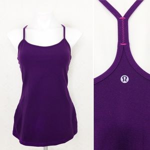 Lululemon Purple Athletic Tank Built In Bra